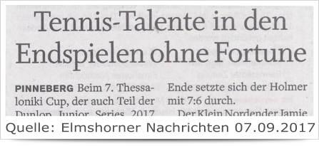 Tennis-Talente in den Endspielen ohne Fortune