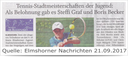 Tennis Stadtmeisterschaften der Jugende LTCE