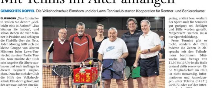 Mit Tennis im Alter anfangen