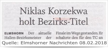 Niklas Korzekwa holt Bezirks-Titel