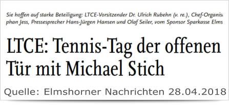 LTCE: Tennis-Tag der offenen Tür mit Michael Stich