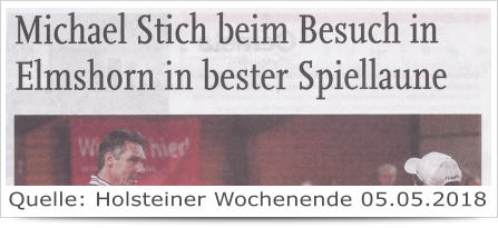 Michael Stich beim Besuch in Elmshorn...