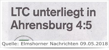 LTC unterliegt in Ahrensburg 4:5