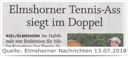 Elmshorner Tennis-Ass siegt im Doppel