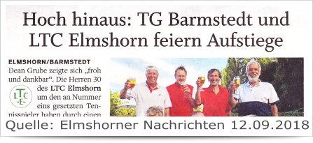 LTC Elmshorn feiern Aufstieg