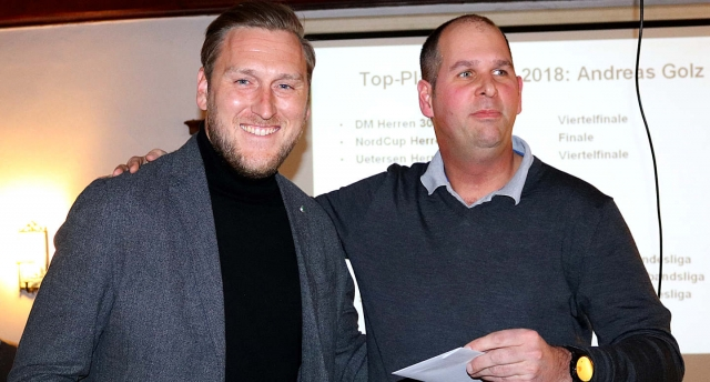 Top-Player: v. links Andreas Golz, Ben Delhey (Vorstand Sport) (Bild: LTCE)