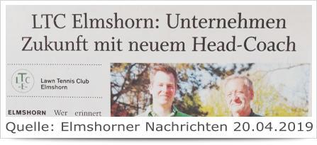 LTC Elmshorn: Unternehmen zukunft mit neuem Head-Coach