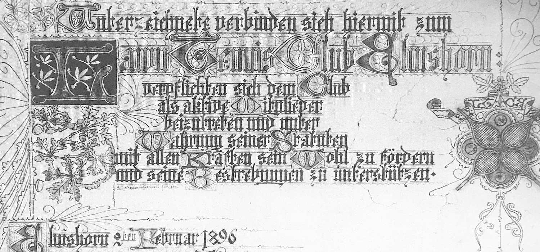 Die Gründungsurkune von 1896