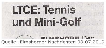 LTCE: Tennis und Mini-Golf