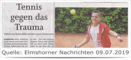 Tennis gegen das Trauma
