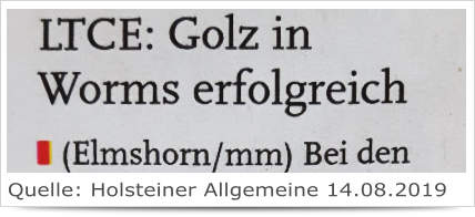 LTCE: Golz in Worms erfolgreich