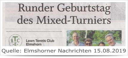 Runder Geburtstag des Mixed-Turniers