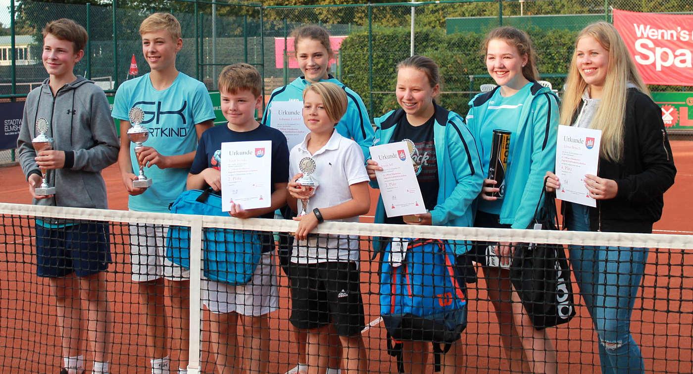 """11. Offene Elmshorner Jugend-Stadtmeisterschaften - """"stolze"""" Sieger"""