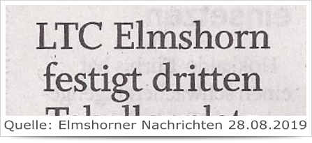 LTC Elmshorn festigt dritten Tabellenplatz