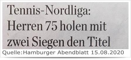 Herren 75 hollen mit zwei Siege den Titel