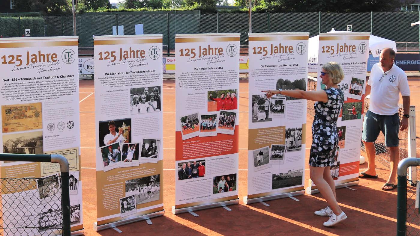 Banner LTCE 125 Jahre (Bengta Reich und Ben Delhey)