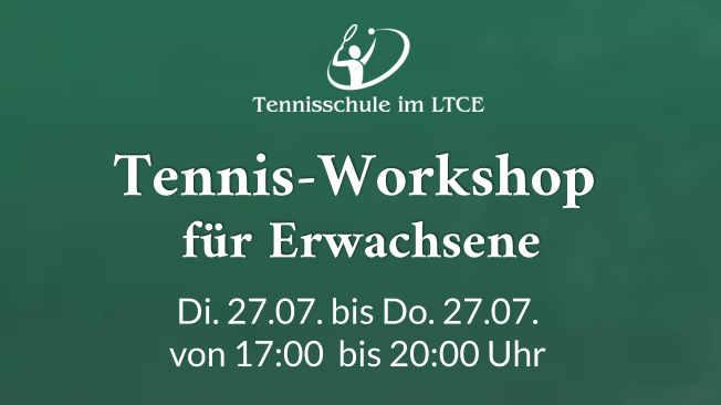 Tennis-Workshop für Erwachsene