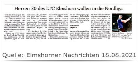 Herren 30 des LTC Elmshorn...