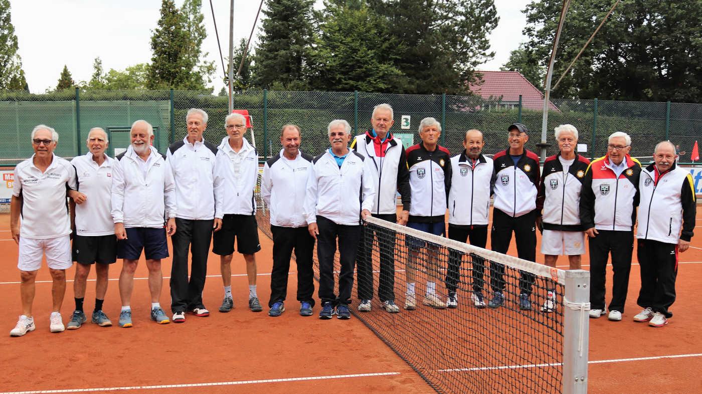 Links vom Netz: TC Wolfsberg-Pforzheim (2.Platz)  Rechts vom Netz: TV Espelkamp-Mittwald (1. Platz